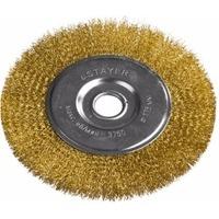 """Щетка Stayer 35122-175 """"PROFESSIONAL"""" дисковая для УШМ, витая стальная латунированная проволока 0,3мм, 175мм/22мм. Интернет-магазин Vseinet.ru Пенза"""