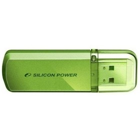 Флешка Silicon Power Helios  101 32Гб,  USB 2.0, зеленый (SP032GBUF2101V1N)