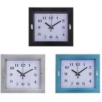 Часы настенные прямоугольные рамка рельефная две блестящих вставки цвет Микс 22*4*18 см. 1195094. Интернет-магазин Vseinet.ru Пенза