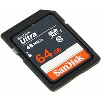 Флеш карта SDHC 64Gb Class10 Sandisk SDSDUNB-064G-GN3IN. Интернет-магазин Vseinet.ru Пенза