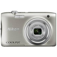 "Фотоаппарат Nikon CoolPix A100 серебристый 20Mpix Zoom10x 2.7"" 720p SDXC CCD 1x2.3 IS el 10minF/Li-Ion. Интернет-магазин Vseinet.ru Пенза"