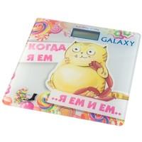 Весы напольные Galaxy GL 4830, белые с рисунком «кот». Интернет-магазин Vseinet.ru Пенза