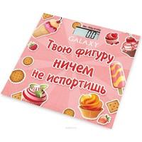 Весы напольные Galaxy GL 4831, розовые с рисунком «сладости». Интернет-магазин Vseinet.ru Пенза