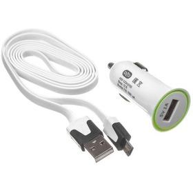Автомобильное зарядное устройство OLTO CCH-2103, microUSB, 1 А, белое