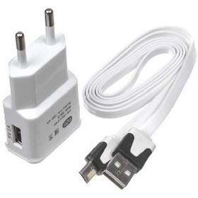 Сетевое зарядное устройство OLTO WCH-4103, microUSB, 5В, белое