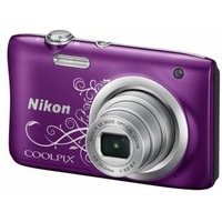 "Фотоаппарат Nikon CoolPix A100 фиолетовый/рисунок 20Mpix Zoom10x 2.7"" 720p SDXC CCD 1x2.3 IS el 10minF/Li-Ion. Интернет-магазин Vseinet.ru Пенза"