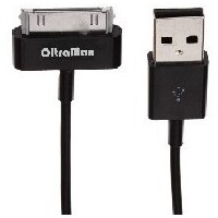 OLTRAMAX OM-К-00045 USB-30-pin для Apple i4 iPad пружина (MFI) чёрный 1.5м. Интернет-магазин Vseinet.ru Пенза
