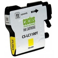 Cactus CS-LC1100Y for Brother DCP-385c/6690cw/MFC-990/5890/5895/6490 Yellow. Интернет-магазин Vseinet.ru Пенза
