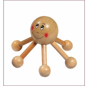"""Массажер деревянный для тела Солнышко 12*12*8 см """"Банные штучки"""" 40114"""