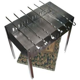 Мангал 500х300х500 мм, сборный, + 6 шампуров в картонной коробке /5 61237 BOYSCOUT. Интернет-магазин Vseinet.ru Пенза