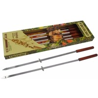 Набор плоских шампуров 55 см с деревянными ручками с кольцами, 6 штук в упаковке / 12 612 BOYSCOUT. Интернет-магазин Vseinet.ru Пенза