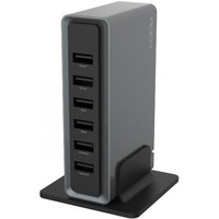 ROCK Rocket Desktop Charger 6 USB RWC0202 Iron Grey. Интернет-магазин Vseinet.ru Пенза