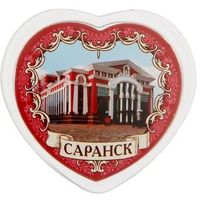 "Магнит в форме сердца ""Саранск"". Интернет-магазин Vseinet.ru Пенза"