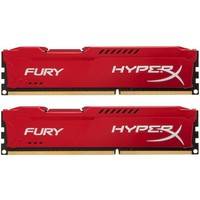 Kingston HyperX Fury Red Series PC3-12800 DIMM DDR3 1600MHz CL10 - 16Gb KIT (2x8Gb) HX316C10FRK2/16. Интернет-магазин Vseinet.ru Пенза