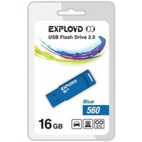Флешка Exployd 560 16Гб,  USB 2.0, голубая (EX-16GB-560). Интернет-магазин Vseinet.ru Пенза