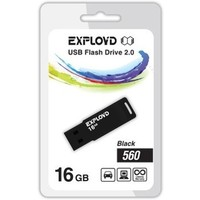 Флешка Exployd 560 16Гб,  USB 2.0, черная (EX-16GB-560). Интернет-магазин Vseinet.ru Пенза
