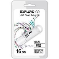 Флешка Exployd 570 16Гб,  USB 2.0, белая (EX-16GB-570). Интернет-магазин Vseinet.ru Пенза
