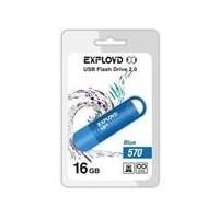 Флешка Exployd 570 16Гб,  USB 2.0, голубая (EX-16GB-570). Интернет-магазин Vseinet.ru Пенза