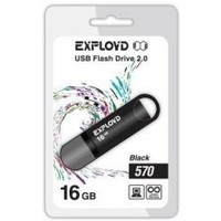 Флешка Exployd 570 16Гб,  USB 2.0, черная (EX-16GB-570). Интернет-магазин Vseinet.ru Пенза