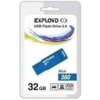 Флешка Exployd 560 32Гб,  USB 2.0, голубая (EX-32GB-560). Интернет-магазин Vseinet.ru Пенза
