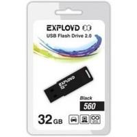 Флешка Exployd 560 32Гб,  USB 2.0, черная (EX-32GB-560). Интернет-магазин Vseinet.ru Пенза