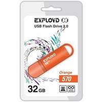 Флешка Exployd 570 32Гб,  USB 2.0, оранжевая (EX-32GB-570). Интернет-магазин Vseinet.ru Пенза