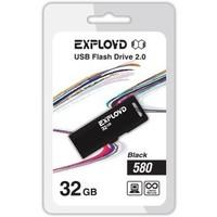 Флешка Exployd 580 32Гб,  USB 2.0, черная (EX-32GB-580). Интернет-магазин Vseinet.ru Пенза