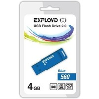 Флешка Exployd 560 4 Гб,  USB 2.0, голубая (EX-4GB-560). Интернет-магазин Vseinet.ru Пенза