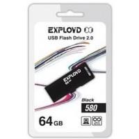 Флешка Exployd 580 64Гб,  USB 2.0, черная (EX-64GB-580). Интернет-магазин Vseinet.ru Пенза