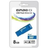 Флешка Exployd 560 8Гб,  USB 2.0, голубая (EX-8GB-560). Интернет-магазин Vseinet.ru Пенза