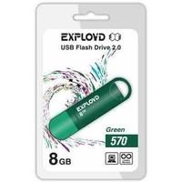 Флешка Exployd 570 8Гб,  USB 2.0, зеленая (EX-8GB-570). Интернет-магазин Vseinet.ru Пенза