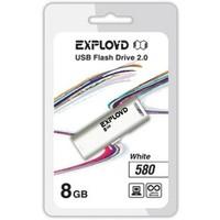 Флешка Exployd 580 8Гб,  USB 2.0, белая (EX-8GB-580). Интернет-магазин Vseinet.ru Пенза
