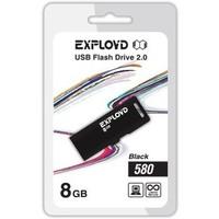 Флешка Exployd 580 8 Гб,  USB 2.0, черная (EX-8GB-580). Интернет-магазин Vseinet.ru Пенза