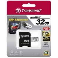 Карта памяти Transcend High Endurance micro SDHC 32Гб, Class 10, адаптер SD(TS32GUSDHC10V). Интернет-магазин Vseinet.ru Пенза