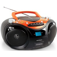 Бумбокс Supra SR-CD125U black CD/CD-R/CD-RW,AM/ УКВ+FM стерео,MP3,USB,AUX. Интернет-магазин Vseinet.ru Пенза