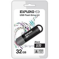 Флешка Exployd 570 32Гб,  USB 2.0, черная (EX-32GB-570-Black). Интернет-магазин Vseinet.ru Пенза