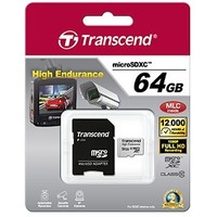 Карта памяти Transcend High Endurance micro SDXC 64Гб, Class 10, адаптер SD(TS64GUSDXC10V). Интернет-магазин Vseinet.ru Пенза