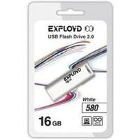 Флешка Exployd 580 16Гб,  USB 2.0, белая (EX-16GB-580). Интернет-магазин Vseinet.ru Пенза