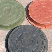 Люк ПП садовый зеленый (до 3тонны)Ф760мм*90мм вес 40 кг Т. Интернет-магазин Vseinet.ru Пенза