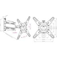 Кронштейн Kromax ATLANTIS-40 титановый. Интернет-магазин Vseinet.ru Пенза