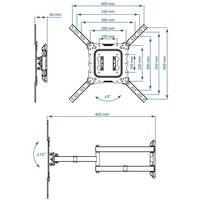 Кронштейн Kromax DIX-18 белый. Интернет-магазин Vseinet.ru Пенза