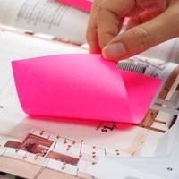 Блок самоклеящийся бумажный Hopax 21135 76x127мм 100лист. 70г/м2 неон желтый. Интернет-магазин Vseinet.ru Пенза
