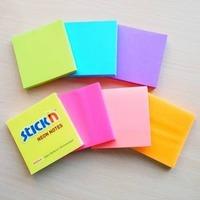 Блок самоклеящийся бумажный Hopax 21166 76x76мм 100лист. 70г/м2 неон розовый. Интернет-магазин Vseinet.ru Пенза