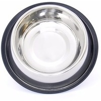 Benelux Нескользящая стальная миска для собак ø 16см/21см - 550 мл (Dog bowl stainless steel with rubber  550 ml) 5460. Интернет-магазин Vseinet.ru Пенза