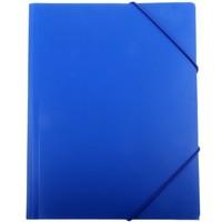 Папка на резинке Бюрократ PR05blu А4 пластик 0.5мм корешок 30мм синий. Интернет-магазин Vseinet.ru Пенза