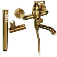 Смеситель в ванную MAGNUS короткий нос,шаровый под золото , плоский корпус 9120. Интернет-магазин Vseinet.ru Пенза