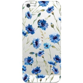 Чехол Deppa Art Case Flowers синий