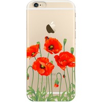 Чехол-крышка DEPPA Art Case iPhone 6/6s Flowers Мак (100102). Интернет-магазин Vseinet.ru Пенза