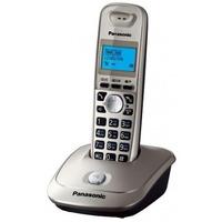 Телефонный аппарат Panasonic KX-TG2511RUN беспроводной телефон DECT АОН, Caller ID (журнал на 50 вызовов) спикерфон на трубке, 10 мелодий, Эко-режим, платиновый/черный. Интернет-магазин Vseinet.ru Пенза
