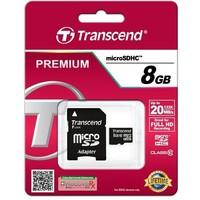Карта памяти Transcend Premium micro SDHC 8Гб, Class 10, адаптер SD(TS8GUSDC10). Интернет-магазин Vseinet.ru Пенза